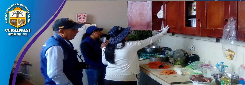 EN CURAHUASI SE REALIZO OPERATIVO CONJUNTO A RESTAURANTES Y SERVICIOS DE ATENCION DE ALIMENTOS AL PUBLICO