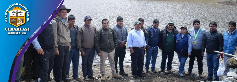 MUNICIPALIDAD DE CURAHUASI Y SIERRA AZUL HACEN REALIDAD SIEMBRA Y COSECHA DE AGUA EN CURAHUASI