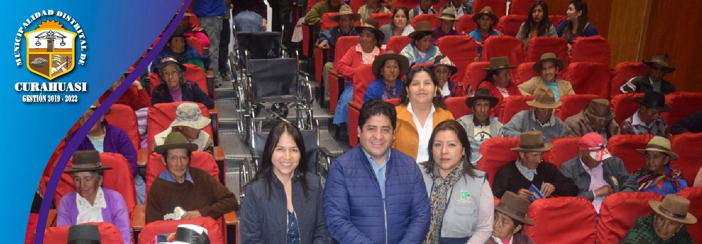 MUNICIPALIDAD DE CURAHUASI PARTICIPO EN CEREMONIA DE ENTREGA DE SILLAS DE RUEDAS Y TALLER DE AUTOCUIDADO PARA ADULTOS MAYORES