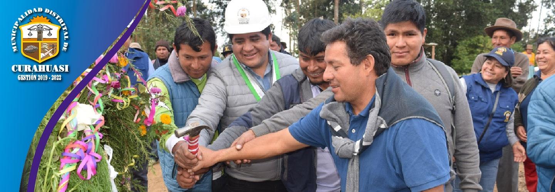 MUNICIPALIDAD DE CURAHUASI INICIO CONSTRUCCION DE INFRAESTRUCTURA DEPORTIVA EN EL CENTRO POBLADO DE CCOC-HUA