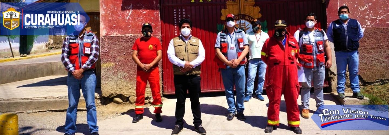 ALCALDE DEL GOBIERNO MUNICIPAL DE CURAHUASI Y REPRESENTANTES DE LA INTENDENCIA NACIONAL DE BOMBEROS DEL PERÚ, ESTABLECEN COMPROMISOS CONCRETOS