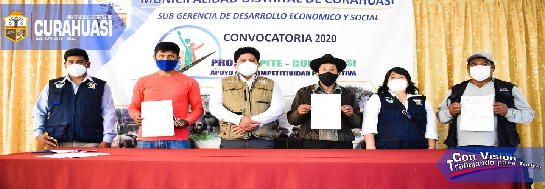 La Municipalidad Distrital De Curahuasi, con un presupuesto de más de medio millón de soles, realizo la primera convocatoria PROCOMPITE